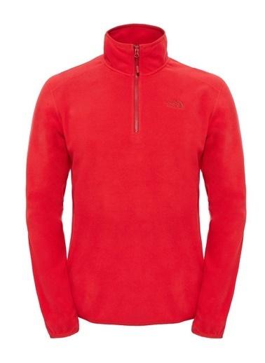 The North Face 100 Glacier Erkek Sweatshirt Kırmızı Kırmızı